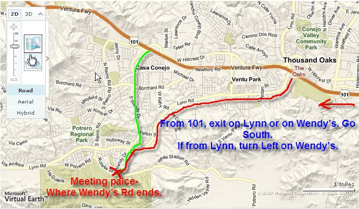 directions to wendy rd potrero rd